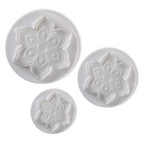 Pavoni Plunger Cutters Floral 3 piece