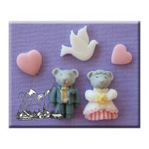 Alphabet Moulds - Wedding Bears