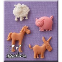 Alphabet Moulds - Farm Animals