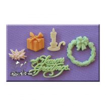 Alphabet Moulds - Seasons Greeting