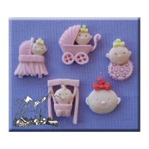 Alphabet Moulds - Baby Girl