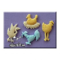 Alphabet Moulds - Farm Birds