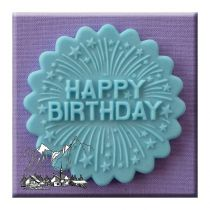 Alphabet Moulds - Happy Birthday Firework