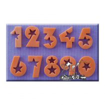 Alphabet Moulds - Number Stars-18Mm
