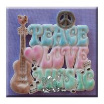 Alphabet Moulds - Hippy Plaque