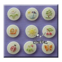 Alphabet Moulds - Buttons Summer