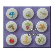 Alphabet Moulds - Buttons Autumn
