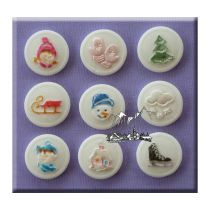 Alphabet Moulds - Buttons Winter