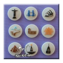 Alphabet Moulds - Buttons Famous Places