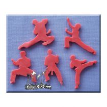 Alphabet Moulds - Karate Silhouettes