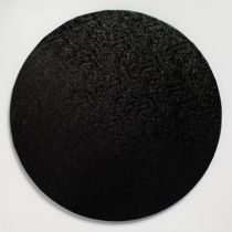 "12"" (304mm) Cake Board Round Black - single"