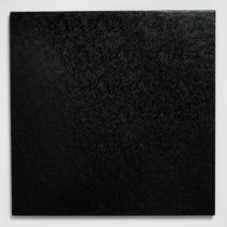 "12"" (304mm) Cake Board Square Black - single"