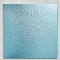 "12"" (304mm) Cake Board Square Light Blue - single"