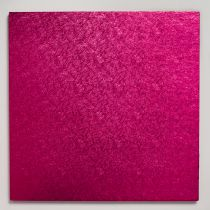 "10"" (254mm) Cake Board Square Cerise - single"