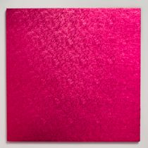 "14"" (355mm) Cake Board Square Cerise - single"