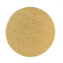 "10"" (254mm) Cake Board Round Gold Fern - single"