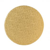 "9"" (228mm) Cake Board Round Gold Fern - single"
