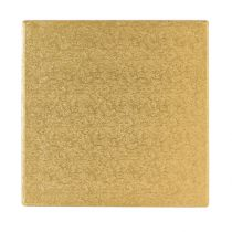 "14"" (355mm) Cake Board Square Gold Fern - single"