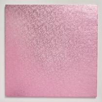 "12"" (304mm) Cake Board Square Light Pink - single"