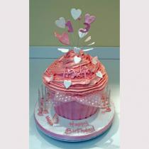 Pink Giant Cup Cake (456)