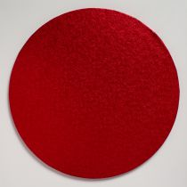 "12"" (304mm) Cake Board Round Red - single"