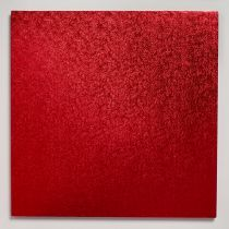 "12"" (304mm) Cake Board Square Red - single"