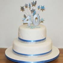 Two Tier Birthday Blue (362)
