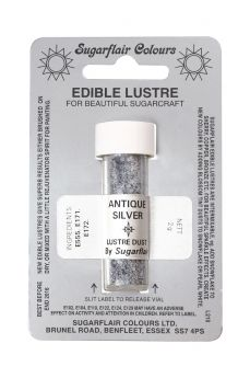 Sugarflair Edible Lustre Colour - Antique Silver