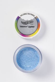 Rainbow Dust Edible Silk Range - Shimmer Sapphire - Retail Packed
