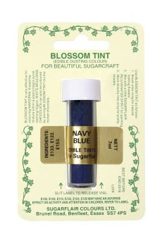 Sugarflair Blossom Tint Dusting Colours - Navy Blue