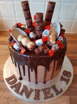 Kinder Drip Cake 8960 Sugar N Spice Cakes