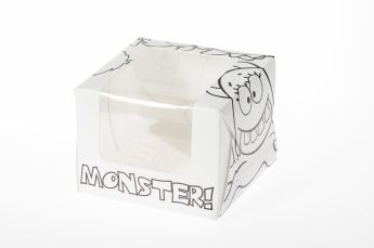 Monsters Single Cupcake/Muffin Box