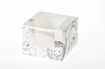 Animals Colour In Single Muffin Boxes 6 piece