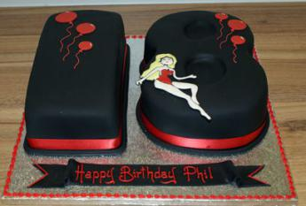 Peachy 18 Red And Black Sugar N Spice Cakes Funny Birthday Cards Online Inifodamsfinfo