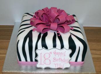 Pleasing Zebra Print Parcel Sugar N Spice Cakes Funny Birthday Cards Online Alyptdamsfinfo