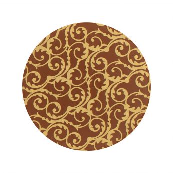 Squires Kitchen Chocolate Transfer Sheet - Gold Baroque