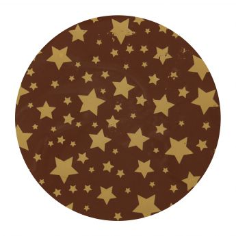 Squires Kitchen Chocolate Transfer Sheet - Gold Stars