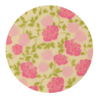 Squires Kitchen Chocolate Transfer - Pink Roses