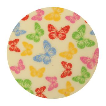 Squires Kitchen Chocolate Transfer - Bright Butterflies