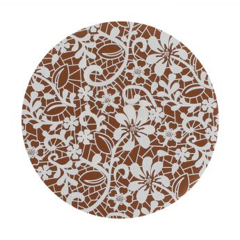 Squires Kitchen Chocolate Transfer - White Lace Blossoms