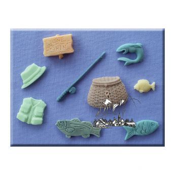 Alphabet Moulds - Gone Fishing