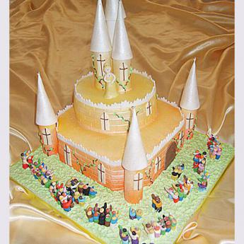 Wedding Party Castle Cake (100)