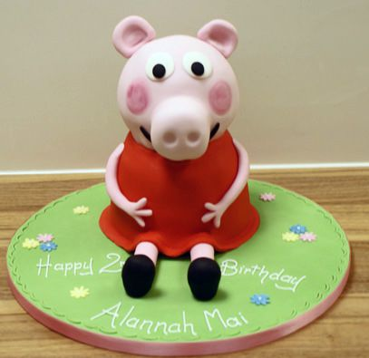 Super Peppa Pig 3D Cake Sugar N Spice Cakes Funny Birthday Cards Online Elaedamsfinfo