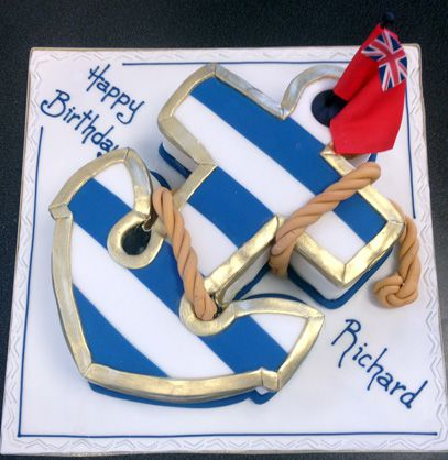 Pleasing Anchor Cake Sugar N Spice Cakes Funny Birthday Cards Online Alyptdamsfinfo
